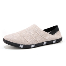Casual Lazy Shoes 2019 Breathable Slip on Loafers Men Canvas Hemp Fisherman Shoes Men Espadrille Flats Boat Shoes Mocassin Homme цена 2017