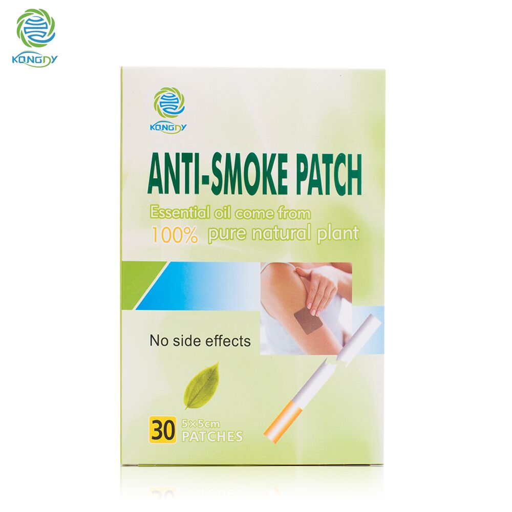 KONGDY 60 Pieces / 2 Boxes Stop Smoking Patch 5*5 CM Health Care Give Up Smoking Pad Natural Ingredient Anti-smoke Patch for Men kongdy brand 10 pieces box anti motion sickness patch chinese traditional herbal medical plaster health care prevent vomitng