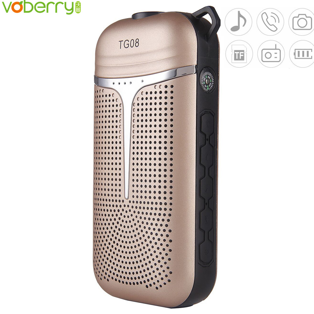 TG08 portable bluetooth Speaker MP3 Music Player Speakers with subwoofer Multi-Function High Fidelity 4000 mAh Power bank