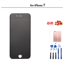 Black/White Assembly LCD Display Digitizer for iPhone 7 AAA Quality LCD Touch Screen for iPhone 7 No Dead Pixel with Gifts 20pcs lot no dead pixel aaa quality for apple iphone 5s lcd touch screen display replacement digitizer 4 0 inches white black
