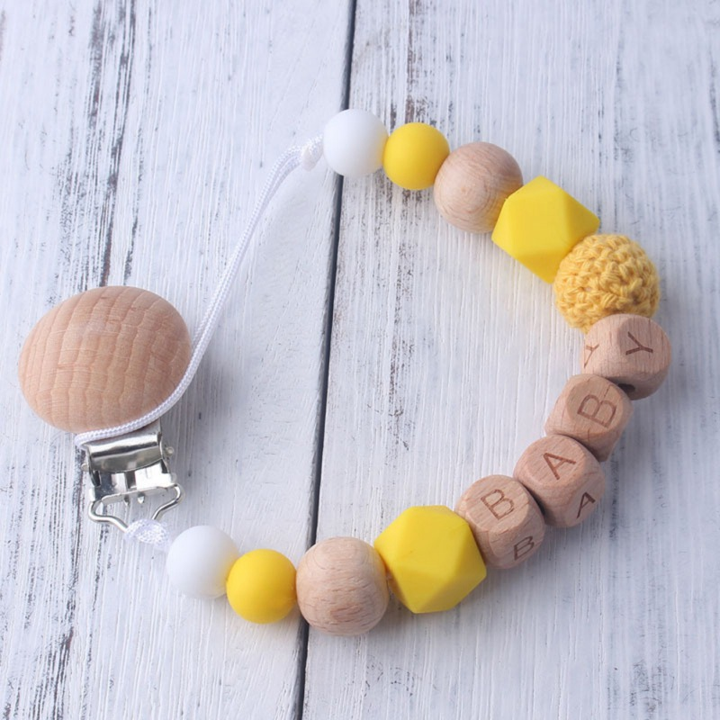 High Quality Safety Baby Handmade Silicone Pacifier Chains Safe Teething Chain Teether Eco-friendly Pacifier Clips Holder Chain