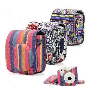 Image 1 - Fujifilm Instax Mini 8 Mini 9 protecteur dappareil photo, pochette en toile accessoires pour appareil photo à Film instantané, sac pour appareil photo à bandoulière de qualité