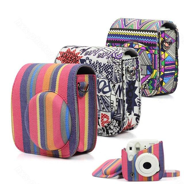 Fujifilm Instax Mini 8 Mini 9 protecteur dappareil photo, pochette en toile accessoires pour appareil photo à Film instantané, sac pour appareil photo à bandoulière de qualité