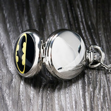 Vintage Steampunk Black Batman Pocket Watch Necklace Pendant Gift Batman v Superman: Dawn of Justice