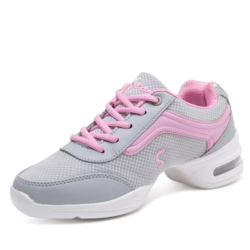 2018 venta nuevo Jazz Zapatos de danza mujeres señoras Fitness suave Outsole Breath los maestros modernos Zapatillas Zapatos Baile Dancing Girl