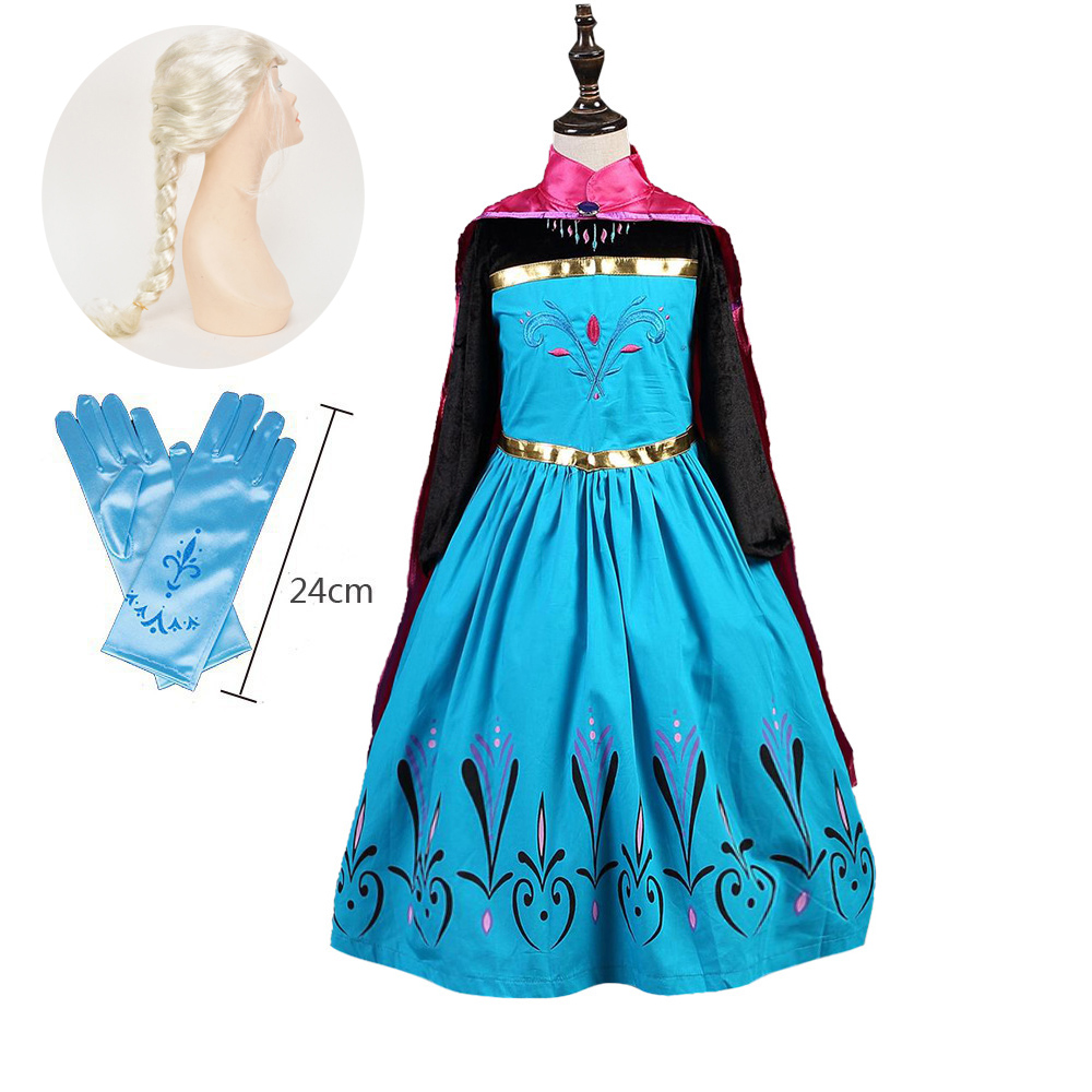 Halloween Princess Costume Kids with Accessories Princess Party Elsa Outfits for 2t 3t 4t 5t 6t 7t 8t Toddler Girls