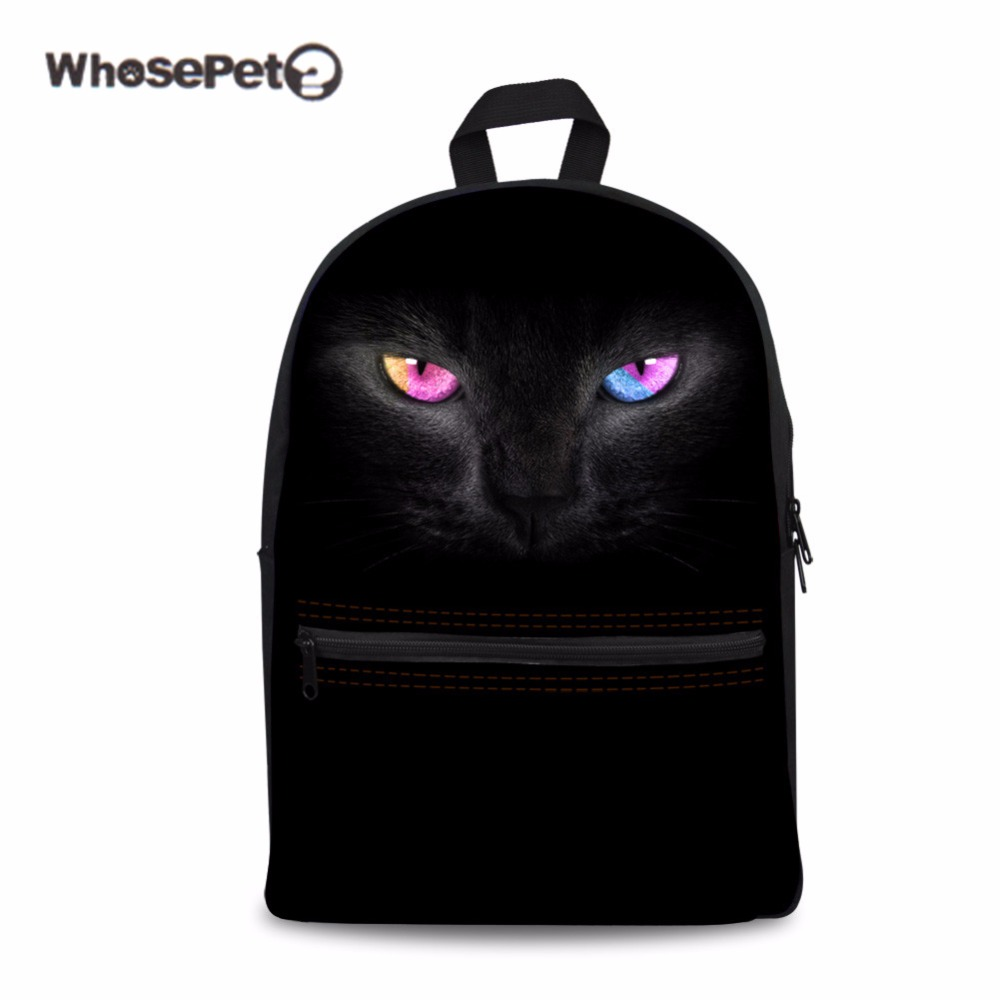 WHOSEPET Black Puma Schoolbag for Teenager Girls Black Fashion Bookbag Satchel Bag Women ...
