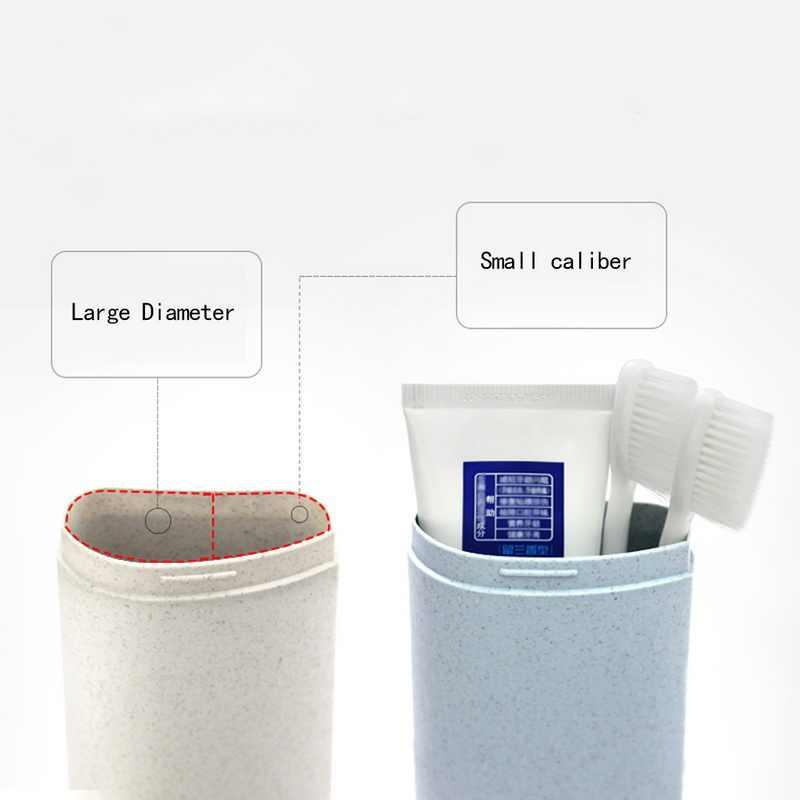 1 قطعة حقيبة مستحضرات التجميل المحمولة الحمام المنظم ل فرشاة الأسنان الكهربائية فرشاة الأسنان حامل التجميل السفر المنظم