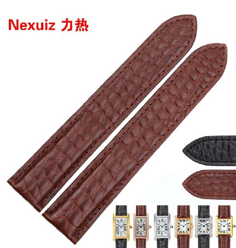 Corocidle Leather watchband straps Black Leather Bracelet 18mm20mm 22mm 23mm 24mm Strap Folding Buckle for brand watches common 20mm buckle 16mm black brown high quality alligator leather watchband waterproof straps bracelets for brand luxury men watches