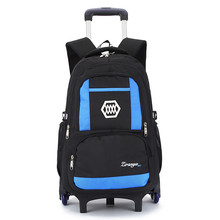 Hot Boys Trolley backpack Girls Wheeled School Bag children Travel Luggage Suitcase On Wheels kids Rolling