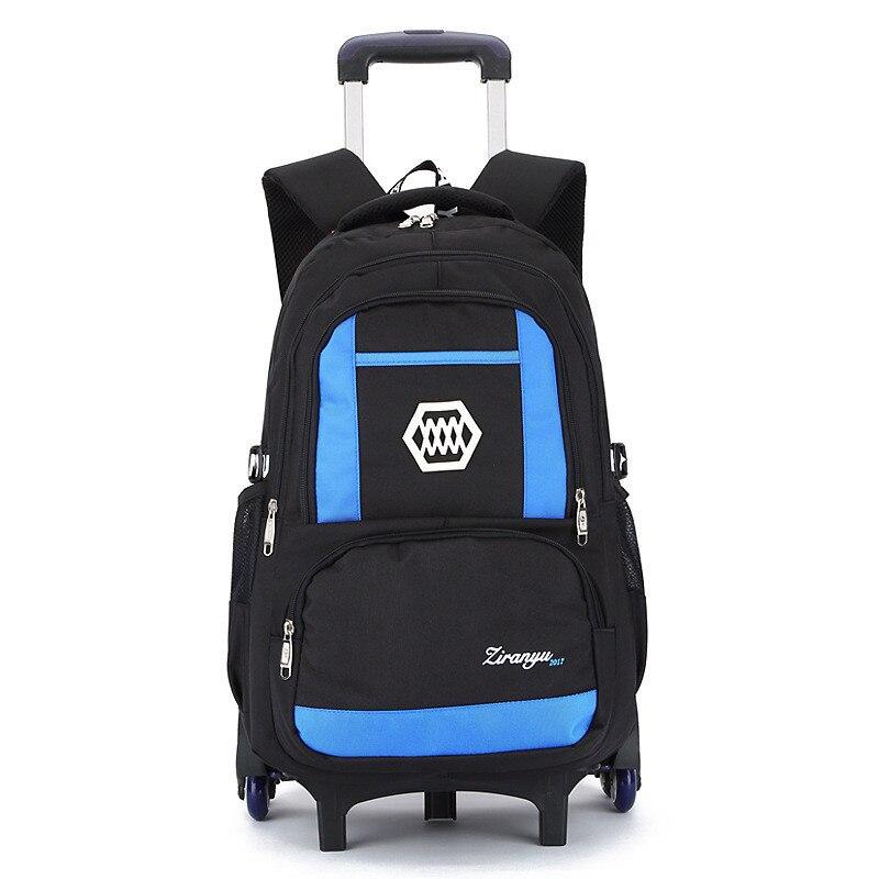 Hot Boys Trolley font b backpack b font Girls Wheeled School Bag children Travel Luggage Suitcase