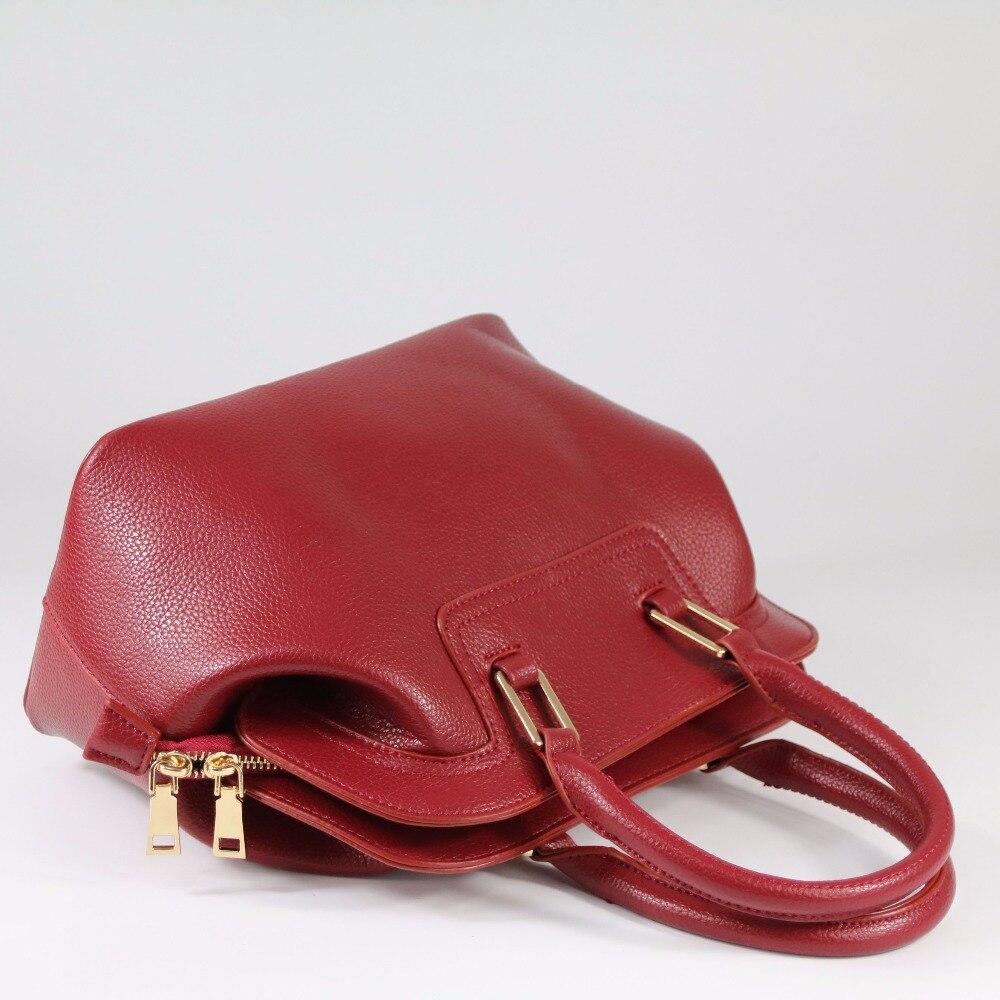 Leather Women Bag Handbag 2017 New Dumpling Shell Tote Fashion Clutch Shoulder Bag Messenger Bag Bride Bag~13B133 fashion shoulder bag leather clutch handbag tote purse hobo messenger bag