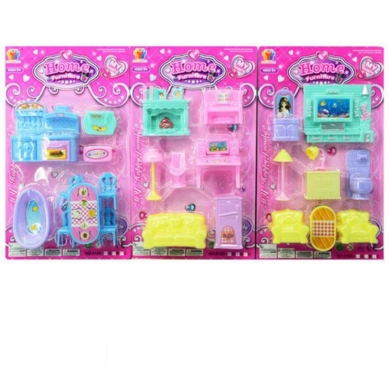 plastic furniture toys set miniature doll house furniture 3setslot roll play games toy for aliexpresscom buy 112 diy miniature doll house
