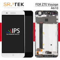 Srjtek écran pour ZTE Voyage 4 lames A610 LCD écran tactile numériseur capteur verre assemblage avec cadre pour ZTE lame A610 affichage