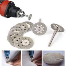 10pcs/set Circular Saw Blades Cutting Wheel Discs+2pcs Mandrels Kits Power Rotary Tool Carbon Steel Saws Hard