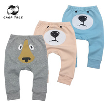 2019 baby fashion trousers cartoon bear pattern childrens clothing pants comfortable
