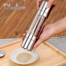 2 In 1 Stainless Steel Manual Pepper Salt Spice Mill Grinder Stick Kitchen Tool Cooking Tools Kitchen Accessaries