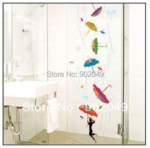 50x70cm decorative window film colorful Umbrella wall decorations wall paper free shipping KC-2093