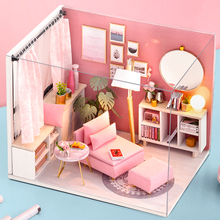 Cutebee Doll House Furniture Miniature Dollhouse DIY Room Casa Toys for Children H17-4