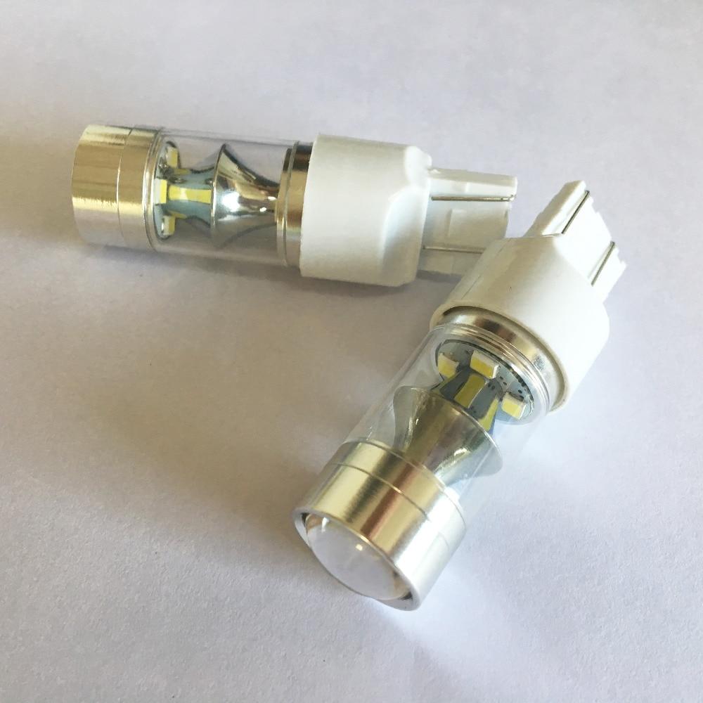 2x 7443 LED Drita e frenave të automjeteve 60W Dritat e kundërta - Dritat e makinave - Foto 2