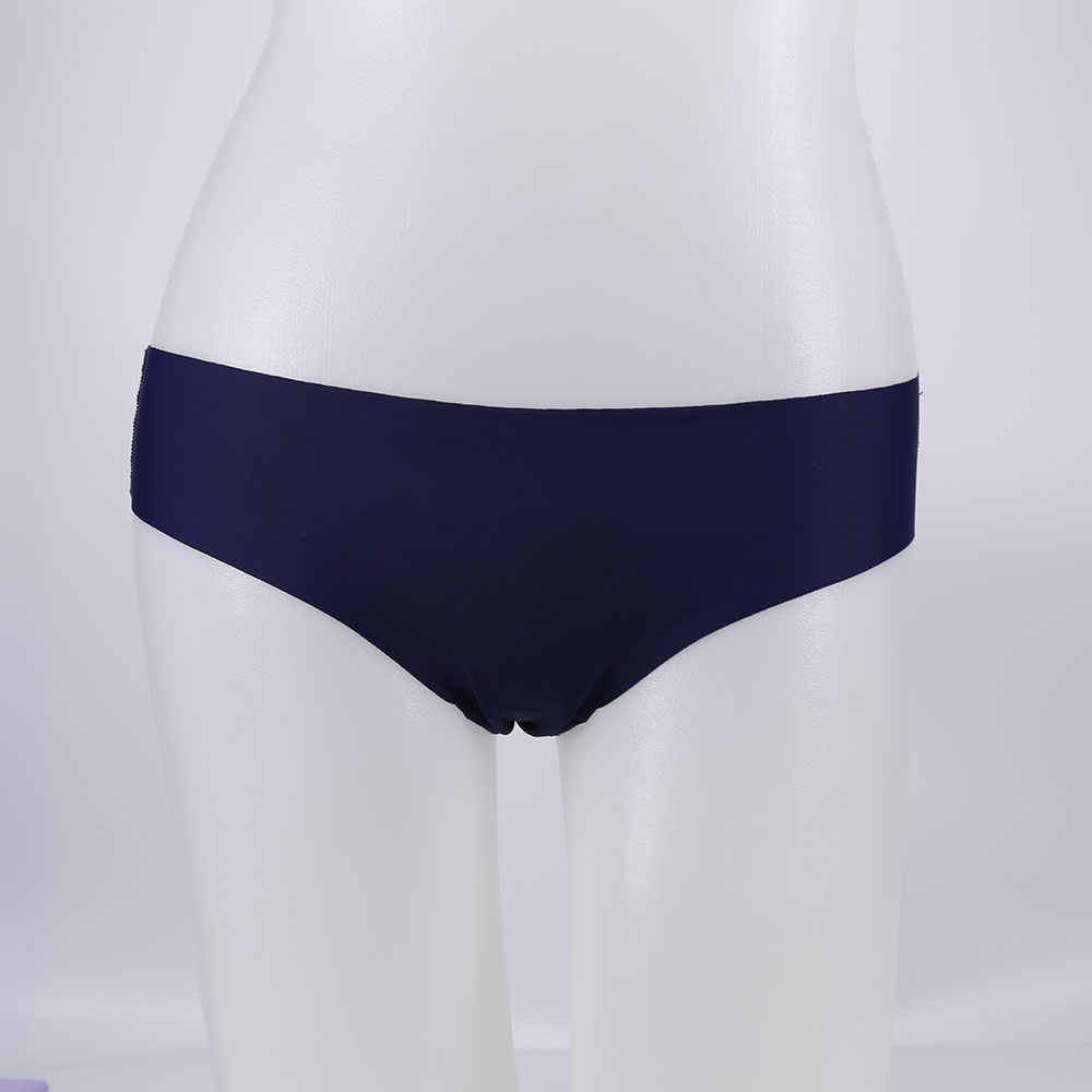 240ef0c57827 ... Women Panties Sexy Ruffles Solid Colour Underwear Ice-silk Low Rise Panty  Female Seamless Briefs ...