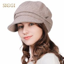 524fb2c6071038 FANCET Wool Newsboy Caps For Women Soft Lined Knitted Visor Beanies Winter  Hats Cotton Adjustable Soft Warm Fashion Hats 89365