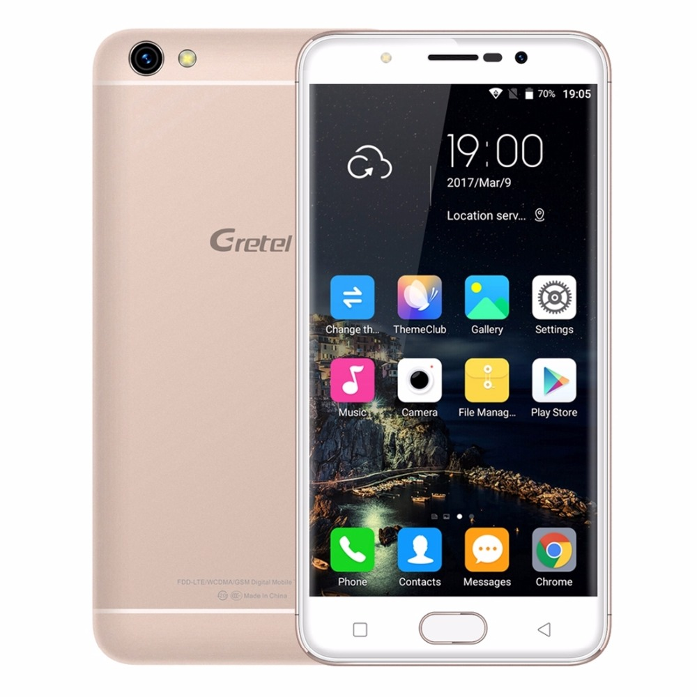 "Gretel A9 Smartphone 4G 5.0"" MT6737 Quad Core Android 6.0 2GB RAM 16GB ROM 8MP Front Fingerprint 1280*720 Metal Mobile phone"