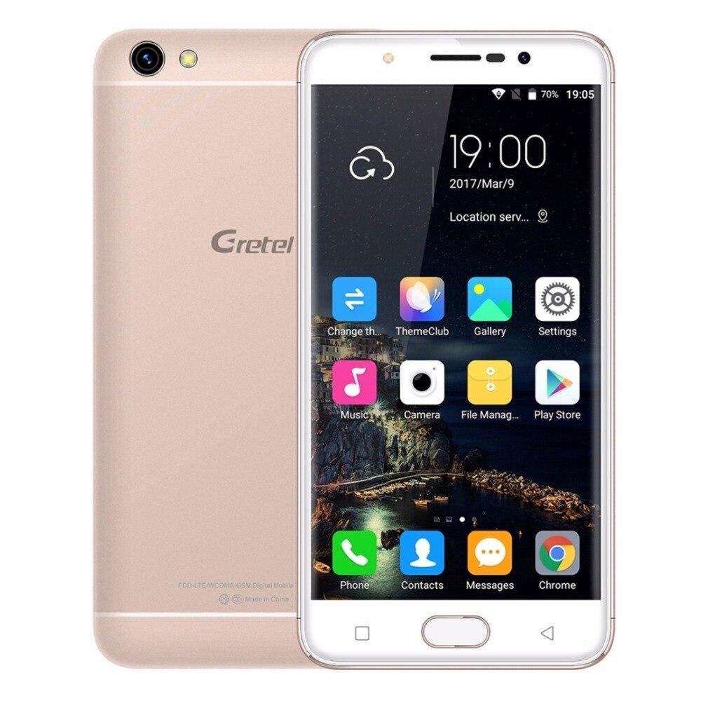 "Gretel A9 Smartphone 4G 5.0"" MT6737 Quad Core Android 6.0 2GB RAM 16GB ROM 8MP Front Fingerprint 1280*720 Metal Mobile phone"