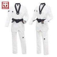 2016new MOOTO Male Female Child Breathable Cotton Taekwondo Uniform Karate Dobok White Kimono Adult Uniform Mooto