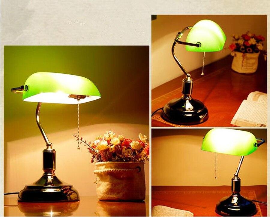 Lampada Ufficio Verde : Retro stile cinese vecchia shanghai lampada da tavolo verde