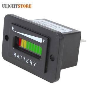 Indicador de batería LED de 12/24V, 36V, 48V, tres colores y 10 Bar, indicador de carga, medidor de capacidad de batería automática