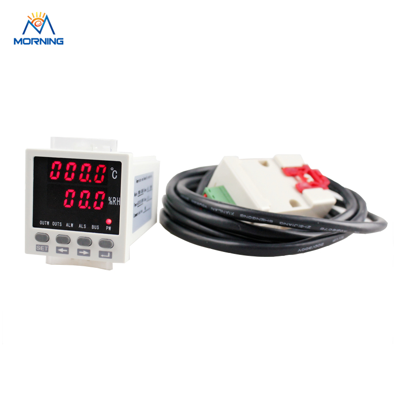 WSK301 48*48mm LED Digital Temperature and humidity Controller with sensor 72 72 mm digital temperature and humidity controller tdk0302la