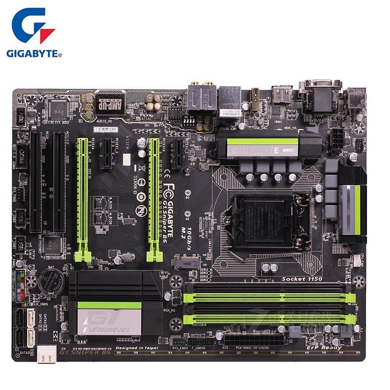 Gigabyte GA-G1.Sniper B6 Motherboard For Intel B85 DDR3 32GB G1 Sniper B6 Desktop Mainboard Systemboard Used Integrated Graphics