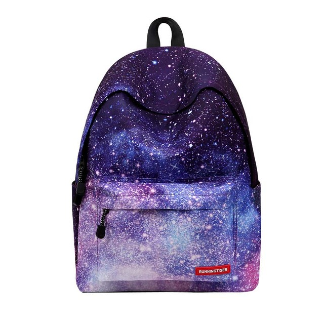 c66cb2fd5aa3 2018 new fashion 3d floral print backpack starry sky backpack boys girls  school bags flower plaid canvas travel bag shoulder bag