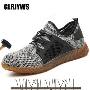 Shoes Construction-Site Safety-Boots Insurance Lightweight Breathable New Labor Flying-Woven
