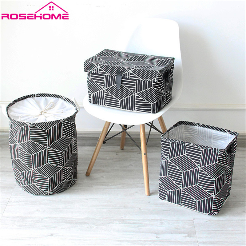 ROSEHOME Brief Multifunction Portable Foldable Dustproof Laundry Storage Baskets Home Decor Housekeeping Organization Household