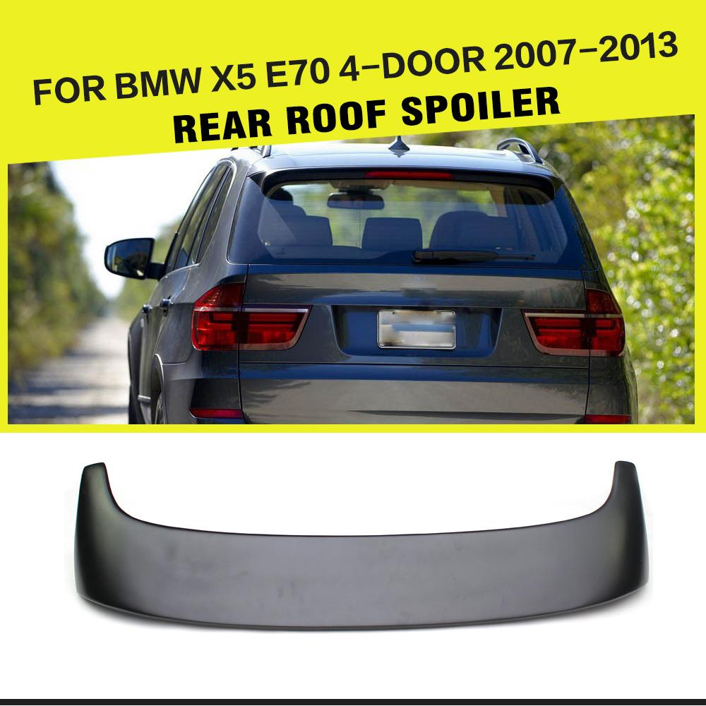 Auto Rear Roof Spoiler Windshield Lip Wing For BMW X5 E70 2007-2013 FRP UNpainted Black Car-Styling image