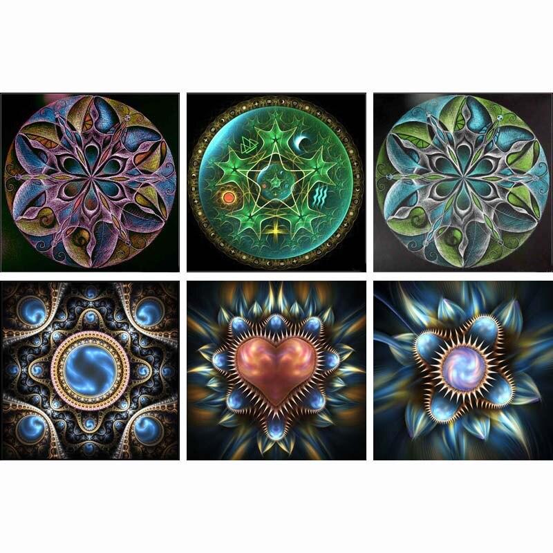 2016 diy новая жизнь Полная паста 5D квадратный горный хрусталь Алмазная роспись алмазной мозайкой Алмазная вышивка Мандала Медитация