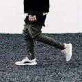 2016 весенняя мода случайные штаны человек будуар дыхание долго, чтобы лодыжки молния досуг куча ноги брюки преступности