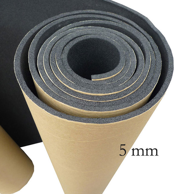 EE support New Thickness 5mm 50X300CM Car Van Sound Proofing Deadening Insulation Closed Cell Foam Auto Accessories Hot Sales