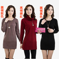 2013 Autumn And Winter Medium-Long Women's Cashmere Sweater Women Elegant Sweater Dress Sweater