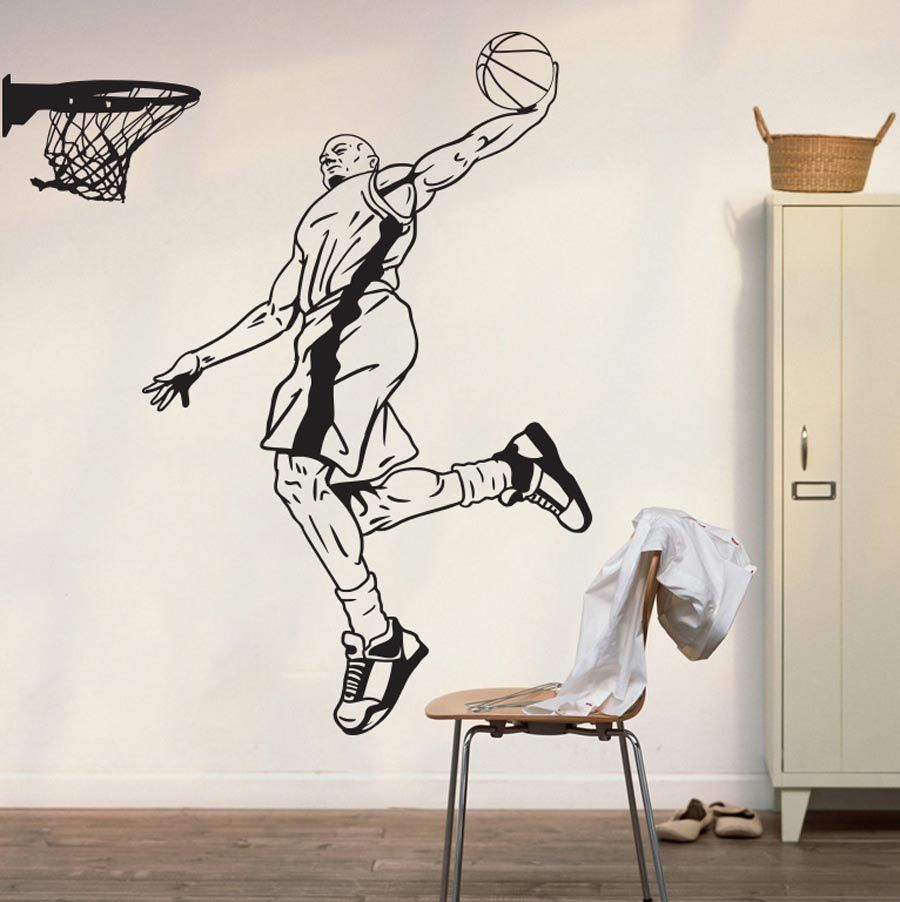YOYOYU Popular Basketball Player Shooting Art Deco Wall