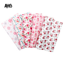 AHB Rose Printed Faux Leather Sheets Spring Flowers Synthetic Leather DIY Handbag Garments Handmade Textile Decor Materials цена и фото