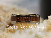 Free Shipping USA UK Canada Russia Brazil Hot Sales 8MM Wood Inlay Men S Shiny Beveled