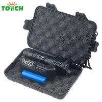 Black Aluminum Alloy Cree Xml T6 Len Led Military Flashlight 5 Mode Tactical Handheld Torch Portable