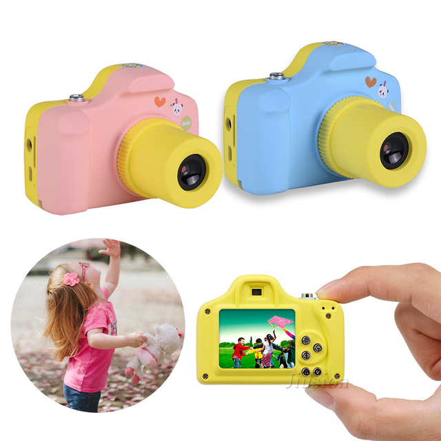 HD 1080P Mini LSR Cam 2MP 1.5 Inch Digital Camera for Kid Baby Cute Cartoon Multifunction Camera for Children Birthday Best Gift