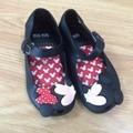 Bonito crianças meninas sandálias de praia mickey minnie mini melissa shoes bebê calçado infantil doce cheiro shoes 10 pçs/lote atacado