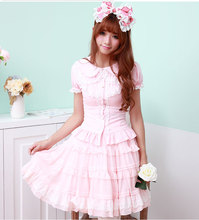 White Black Pink Lolita Sissy Puff Lace Sleeve Blouse Uniform