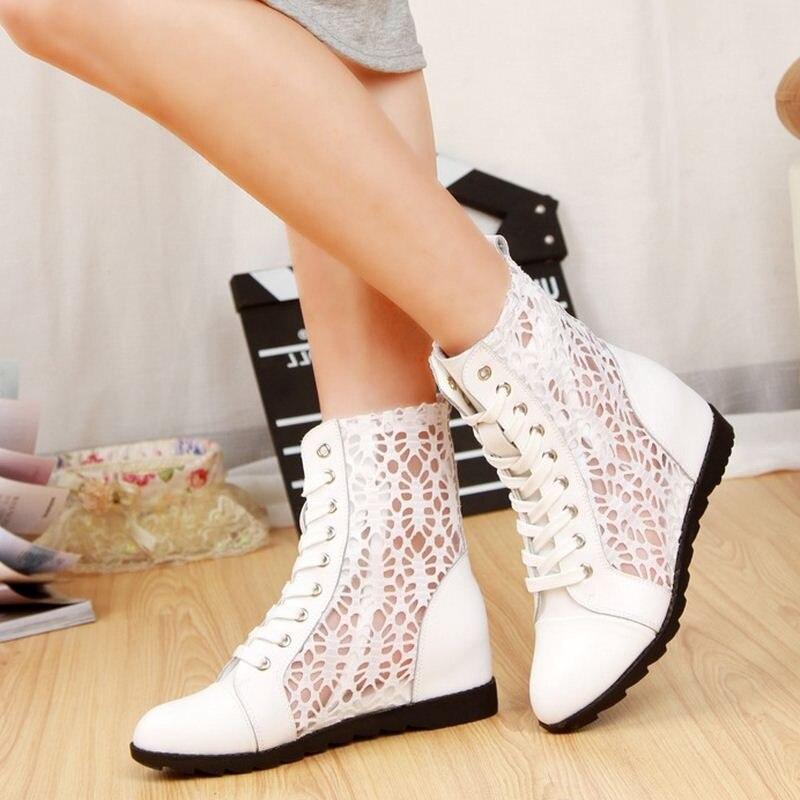 Aire Cómodas De Aa20220 Libre Las Amortiguación Zapatos Otoño Caminar blanco Negro Mujeres Primavera Caucho Ligero Botas Al q10tq