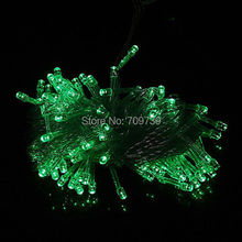 Christmas Hanging Decoration Green 10m 100 Led Christmas Party String Light Fairy for Xmas Wedding Connectable Eu free Shipping